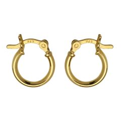 12mm Hinged Earhoop Gold Plated Vermeil Sterling Silver (Extra Durable)