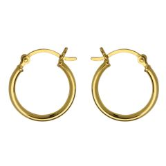 18mm Hinged Earhoop Gold Plated Vermeil Sterling Silver (Extra Durable)