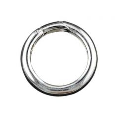 Round  Push Clasp (20mm) Sterling Silver (STS)