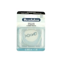 Beadalon French Wire (Gimp) 0.6mm  (.024 in)  Sterling Silver