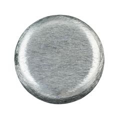 30x10mm Flat Round shape Scratched bead  Silver Plated (SP)