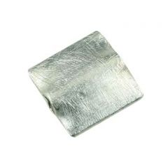 Scratch 6mm Flat square shaped Bead Sterling Silver (STS)