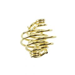 Spiral Pendant 8mm Gold Plated