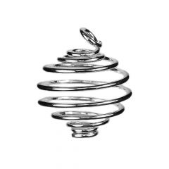 Spiral Pendant 12mm Silver Plated
