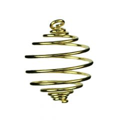Spiral Pendant 14mm Gold Plated