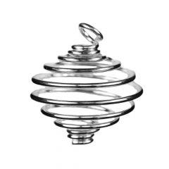 Spiral Pendant Heavy Gauge 25.5mm  Silver Plated