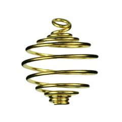 Spiral Pendant Heavy Gauge 25.5mm Gold Plated