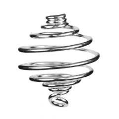 Spiral Pendant Heavy Gauge 18mm Silver Plated
