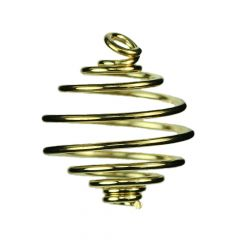 Spiral Pendant Heavy Gauge 18mm Gold Plated