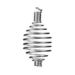 Spiral Pendant Dropper 45mm Silver Plated