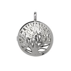 Tree Of Life Locket Pendant 31mm Silver Plated
