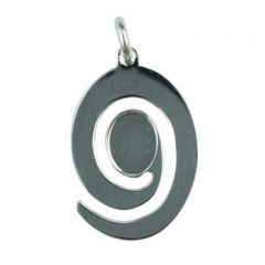 Swirl Shaped Pendant Sterling Silver (STS) Takes 8x6mm Cab with jumpring