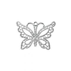 Superior Filigree Butterfly Pendant Charm 35x25mm Sterling Silver (STS)
