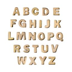 Capital Alphabet Letters A-Z Bead Set Rose Gold Plated Vermeil Sterling Silver (Extra Durable)