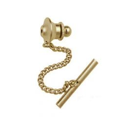 Tie Pin (50mm including chain) Gold Plated
