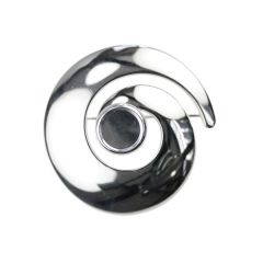 Swirl Brooch with 12mm Cup for Cabochon Silver Plated