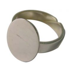 Ring with Split Shank and 20x15mm Flat Pad for Cabochon Sterling Silver (STS)