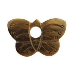 Gemstone Feature Butterfly + Hole Tiger Eye