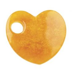 *Gemstone Feature 50mm Offset Heart 10mm Hole Orange REDUCED BY 50%