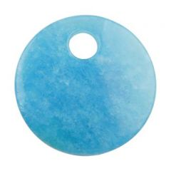 *Gemstone Feature 50mm Round 10mm Hole Sky Blue REDUCED BY 50%