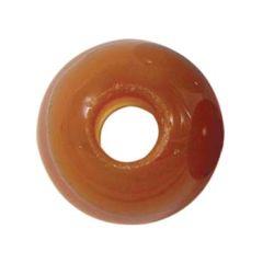 8mm Gemstone large 2.5mm hole bead Carnelian