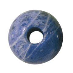 8mm Gemstone large 2.5mm hole bead Sodalite