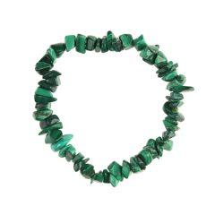 Superior Gemstone Tumblechip Bracelet Malachite
