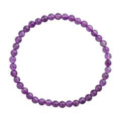 Amethyst 4mm Gemstone Bead Bracelet