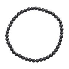 Black Agate 4mm Gemstone Bead Bracelet