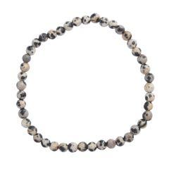 Dalmation Jasper 4mm Gemstone Bead Bracelet