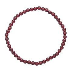 Garnet 4mm Gemstone Bead Bracelet