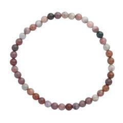 Ocean Jasper 4mm Gemstone Bead Bracelet