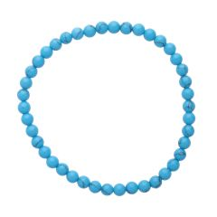 Turquoise (Reconstituted) 4mm Gemstone Bead Bracelet