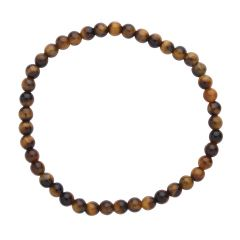 Tiger Eye 4mm Gemstone Bead Bracelet