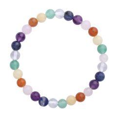 Chakra Rainbow 6mm Gemstone Bead Bracelet