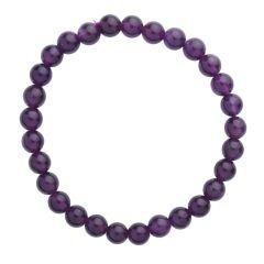 Amethyst 6mm Gemstone Bead Bracelet