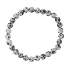 Dalmation Jasper 6mm Gemstone Bead Bracelet