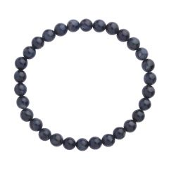 Dumortierite 6mm Gemstone Bead Bracelet