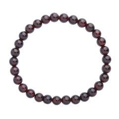 Garnet 6mm Gemstone Bead Bracelet
