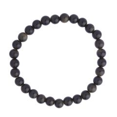 Golden Obsidian 6mm Gemstone Bead Bracelet