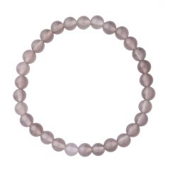 Grey Agate 6mm Gemstone Bead Bracelet