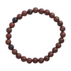 Mahogany Obsidian 6mm Gemstone Bead Bracelet