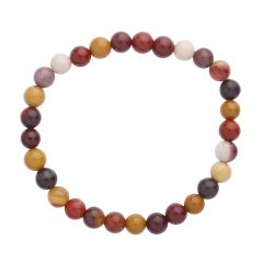 Mookaite 6mm Gemstone Bead Bracelet
