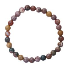 Ocean Jasper 6mm Gemstone Bead Bracelet