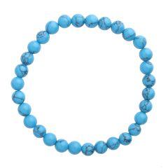 Turquoise (Rec) 6mm Gemstone Bead Bracelet