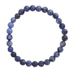Sodalite 6mm Gemstone Bead Bracelet