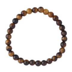 Tiger Eye 6mm Gemstone Bead Bracelet