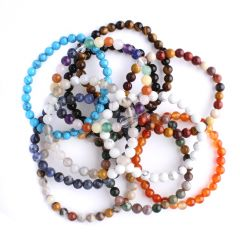 Mixed Selection 6mm Gemstone Bead Bracelet Pack