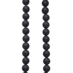 8mm Round gemstone bead Black Agate MATT 40cm strand