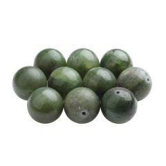 20mm Round gemstone bead Jade Nephrite (Single bead)
